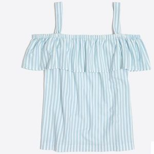 J Crew Factory Striped Off The Shoulder Tank Top